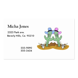 Cactus Friends Forever Business Card