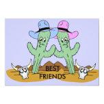 "Cactus Friends Set 5"" X 7"" Invitation Card"