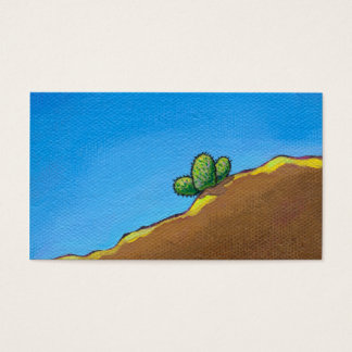 Cactus fun desert landscape art colorful painting business card