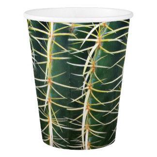 Cactus Funny Uncomfortable Needles Arid Plant Paper Cup
