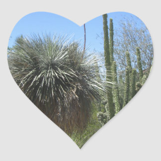 Cactus Garden Heart Sticker