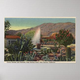 Cactus Garden, Palm Springs Hotel Poster