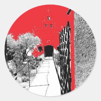 Cactus Garden Pathway Classic Round Sticker