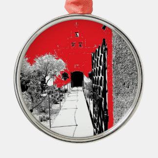 Cactus Garden Pathway Metal Ornament