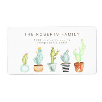 Cactus Garden | Watercolor Address Label