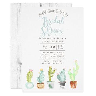 Cactus Garden | Watercolor Bridal Shower Invite