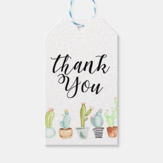 Cactus Garden | Watercolor Thank You Gift Tags
