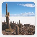 Cactus gigante en el pegatina de la foto de Salar