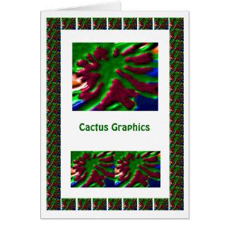 Cactus Graphics Greeting Card