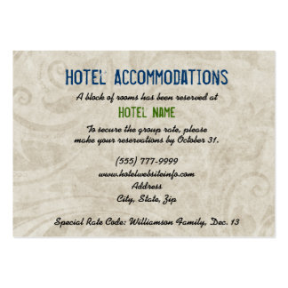 Cactus Hotel Accommodation Enclosure Cards Large Business Cards (Pack Of 100)