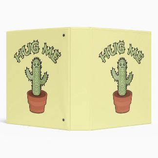 Cactus Hug Me 3 Ring Binder