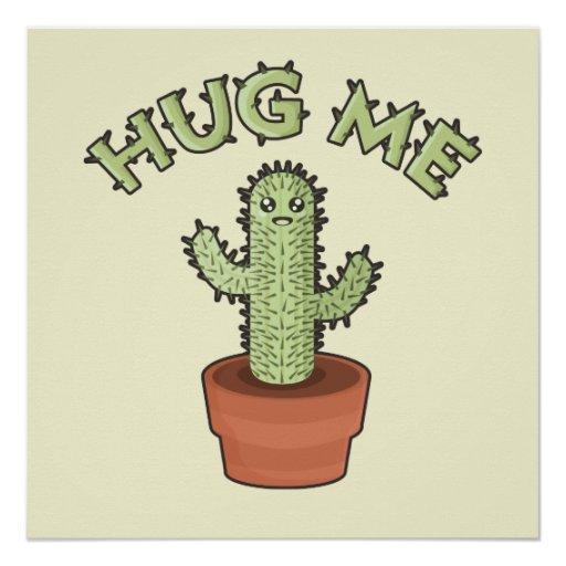 Cactus Hug Me Poster