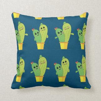 cactus hug throw pillow