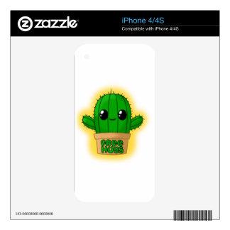 Cactus Huggable Calcomanía Para El iPhone 4