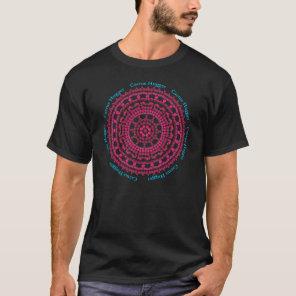 Cactus Hugger T Shirt with Hedgehog Cactus Mandala
