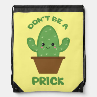 Cactus Humor - Funny Novelty Drawstring Backpack