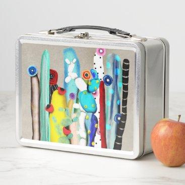 Beach Themed Cactus Ice-cream Metal Lunch Box