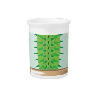 Cactus in a pot beverage pitcher