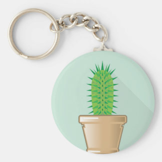 Cactus in a pot keychain