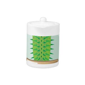 Cactus in a pot teapot