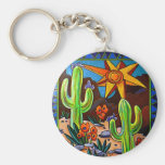 Cactus in the Southwest Keychains