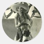 Cactus Kate Etiquetas Redondas