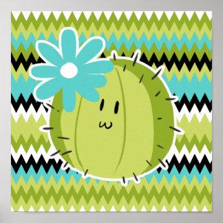 Cactus lindo de la flor impresiones