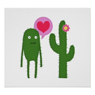 cactus love (large poster) poster