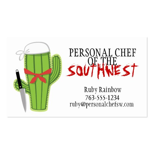 Cactus Mexican Southwestern cuisine catering Business Card