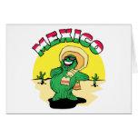 Cactus mexicano tarjeta