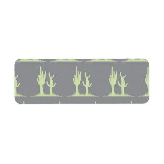 Cactus mint grey label