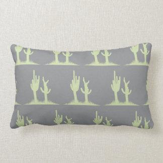 Cactus mint grey pillow