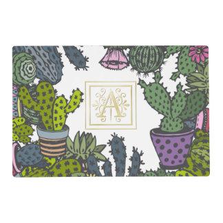 Cactus Monogram A Placemat