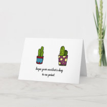Cactus Mother's Day Card