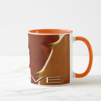 Cactus Mug, Agave Orange Sonoran design Mug
