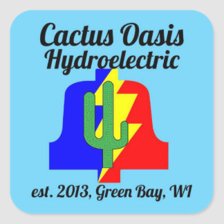 Cactus Oasis Hydroelectric Company Sticker