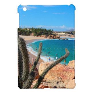 Cactus On Rocky Hilltop Over Sandy Beach Case For The iPad Mini