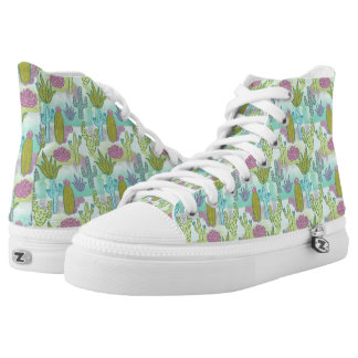 Cactus Painterly Watercolor Collage Printed Shoes