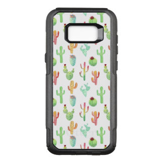 Cactus Pastel Watercolor Pattern OtterBox Commuter Samsung Galaxy S8+ Case