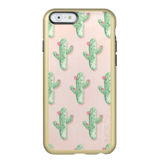 Cactus pastels and gold iPhone Case