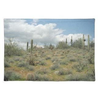 Cactus Pastoral Sweep Desert Photo Placemat Cloth Placemat