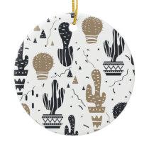 Cactus pattern ceramic ornament
