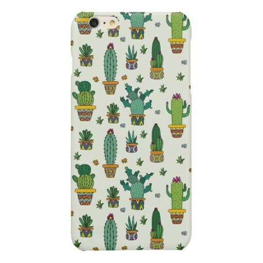 CACTUS PATTERN GLOSSY iPhone 6 PLUS CASE