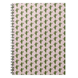 cactus pattern notebook