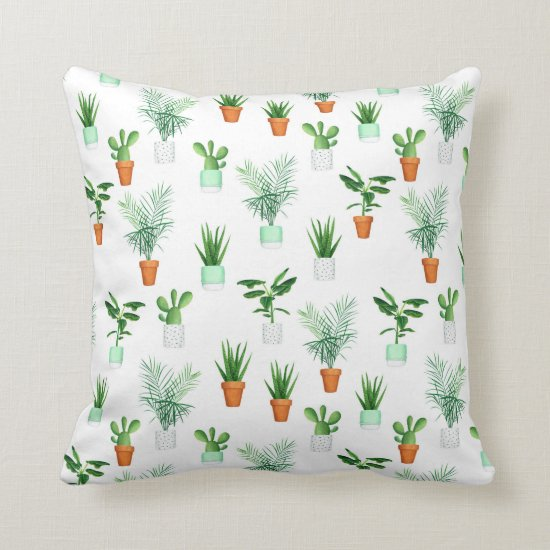 Cactus Pattern Throw Pillows