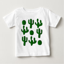 Cactus pattern - transparent baby T-Shirt