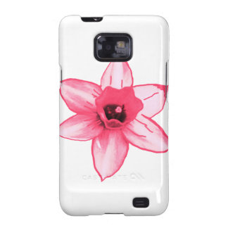 Cactus Pink Flower Template increase decrease size Samsung Galaxy SII Cases