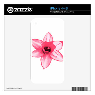 Cactus Pink Flower Template increase decrease size Decal For The iPhone 4S
