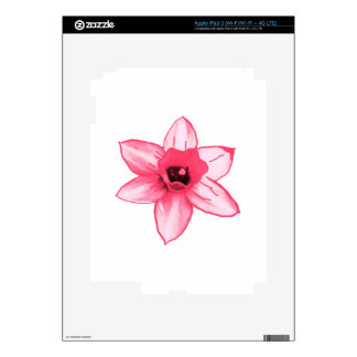 Cactus Pink Flower Template increase decrease size Skins For iPad 3