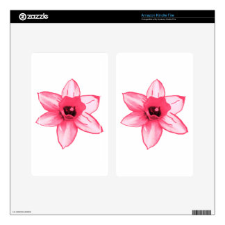 Cactus Pink Flower Template increase decrease size Skins For Kindle Fire